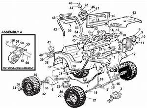 Power Wheels Jeep Jr 4x4 Parts