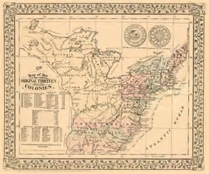 13 Colonies Map 1776