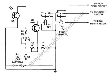 Auto Dimmer Switch Wiring Diagram by Automatic Headlight Dimmer Safe Yourself And Others
