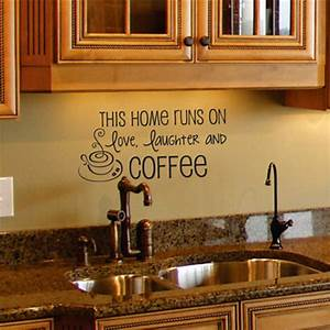 Coffee wall decal kitchen art quote removable vinyl
