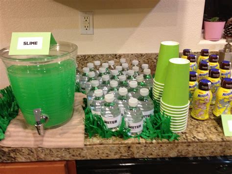 minecraft party drink station rickys minecraft party