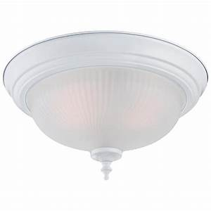 Westinghouse 2 light white flush mount 2 pack 6344600 for Home depot flush mount light 2 pack
