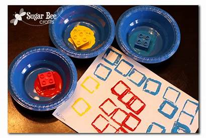 Preschool Crafts Primary Colors Arts Stamping Shapes