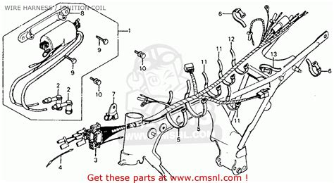 1973 Honda Xl175 Wiring Diagram For A by Honda Cm185t Twinstar 1978 Usa Wire Harness Ignition
