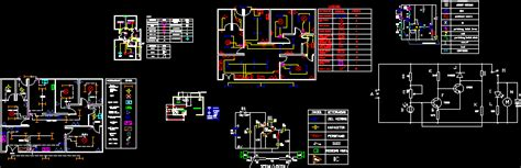 electrical circuit project dwg full project  autocad