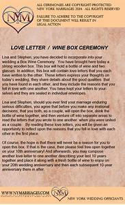 sample love letter wine box ceremony unique wedding With same sex wedding ceremony script