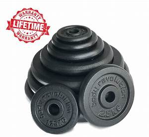 Cast Iron Weight Plates Barbell Plate 1 U0026quot  Dumbbell Weights Disc Olympic Discs