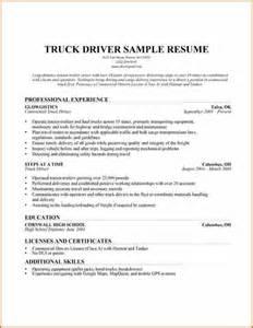 truck driving resume sles 6 truck driver resume sle budget template letter