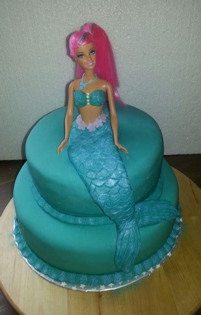 meerjungfrauen barbie torte selber machen mit bildern