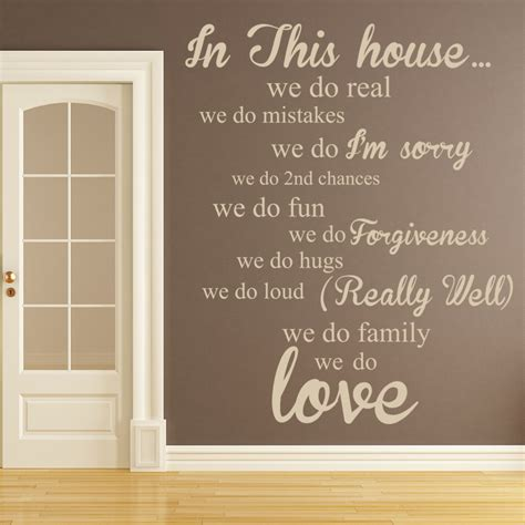 Home Decor Decals by In This House Wall Sticker Home Wall