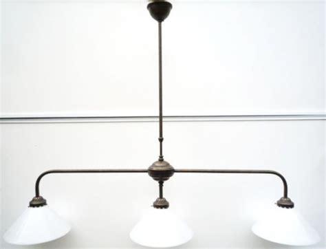 lustre suspension bistrot lumires hauteur cm cm laiton massif et verre souffl with lustre