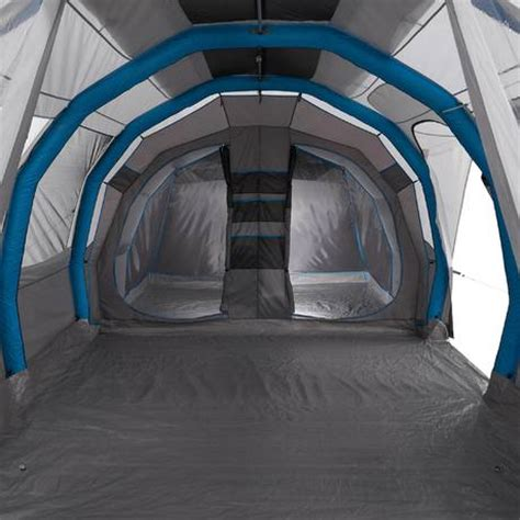 toile de tente 4 places 2 chambres air seconds family tent 6 3xl 6 grey quechua