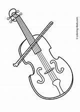 Coloring Pages Instruments Musical Violin Instrument Printable Sheets Drawings Cliparts Clipart Kid Library Drawing sketch template