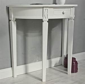 Tisch Weiß Holz : tisch wei halbrund landhaus ~ Markanthonyermac.com Haus und Dekorationen