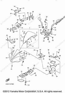 Yamaha Motorcycle 2008 Oem Parts Diagram For Cowling 1