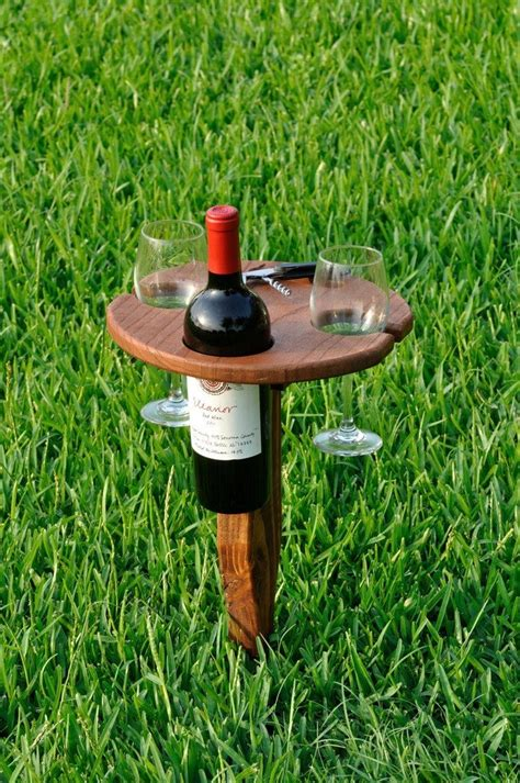 build  portable wine table  picnics diy projects