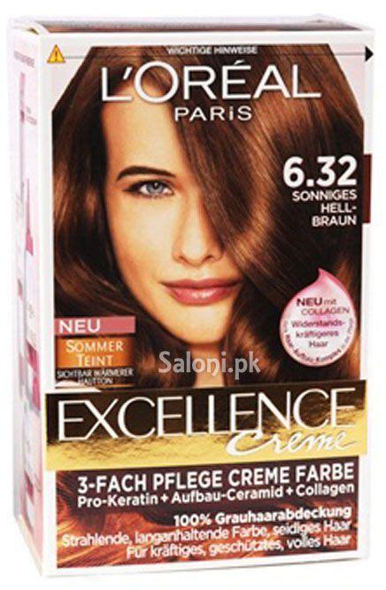 loreal paris excellence creme  golden light brown