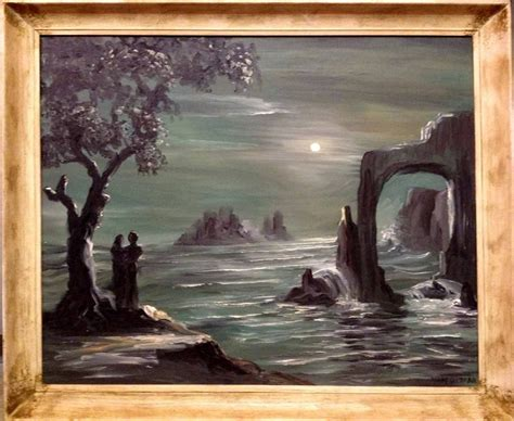mid century modern painting  lewis vandercar miami magic