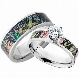 his and hers cz camo wedding ring set mossy oak With womens camo wedding ring set