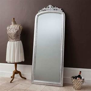 Elegant Silver Full Length Mirror