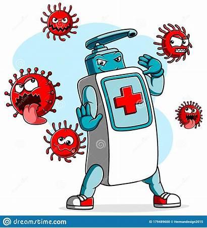 Sanitizer Fight Cartoons Covid Coronavirus