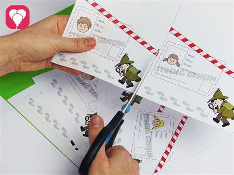vorlage fuer einladungskarten mit detektivausweis