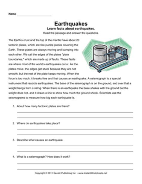 earthquake comprehension