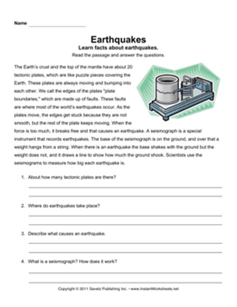 All Worksheets » Volcanoes And Earthquakes Worksheets  Printable Worksheets Guide For Children