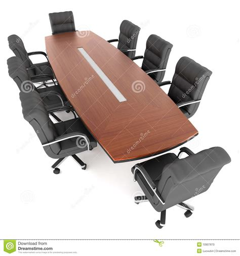 conference table and office chairs stock photo image