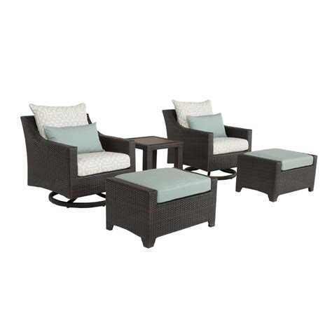 lounge chair and ottoman set martha stewart living lake adela charcoal 2 piece patio