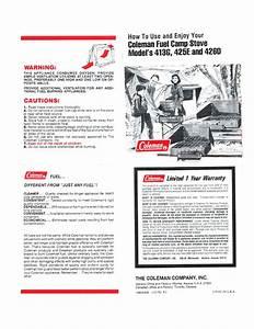 Coleman 425e User U0026 39 S Manual