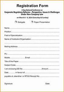 template sample conference registration form template With sample workshop registration form template