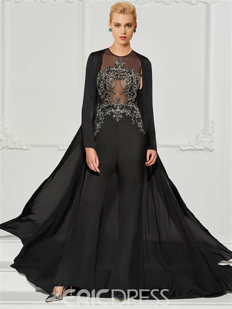 Ericdress A Line Long Sleeve Beaded Prom Jumpsuit 12987180 ...