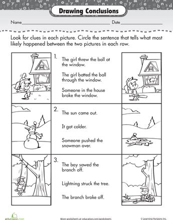 story comprehension drawing conclusions reading