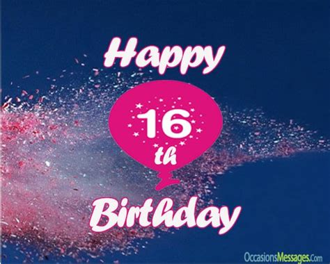 16th Birthday Wishes  Sweet Sixteen Birthday Messages
