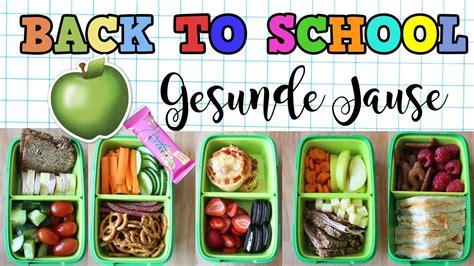 5 Gesunde und einfache Snack Ideen für die Schule BACK