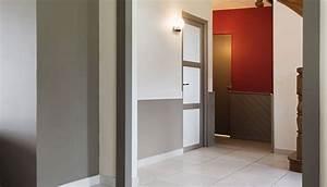 Couleur Peinture Couloir : peinture couloir 2 couleurs great cage d escalier et peindre une cage d escalier en couleurs ~ Mglfilm.com Idées de Décoration