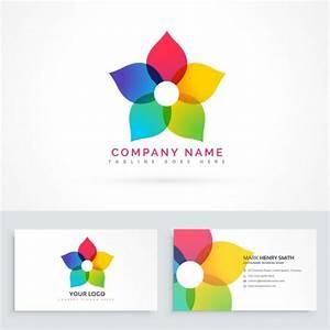 colore design fleur logo avec carte de visite With chambre bébé design avec abonnement fleurs entreprise