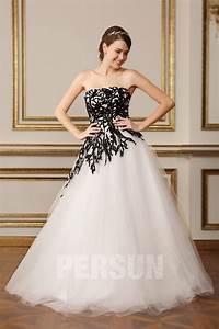 Robe De Mariée Noire : robe de mari e noire et blanche bustier droit style ~ Dallasstarsshop.com Idées de Décoration