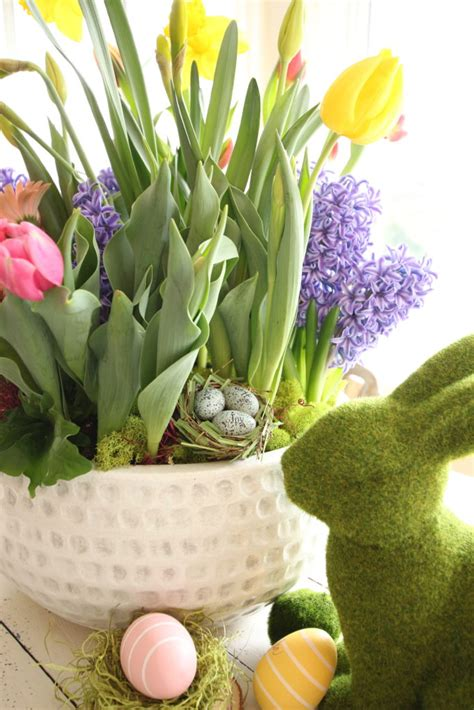 Planting Colorful Spring Flower Container Garden For Easter