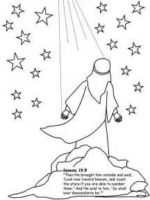 Abraham Stars Coloring Page