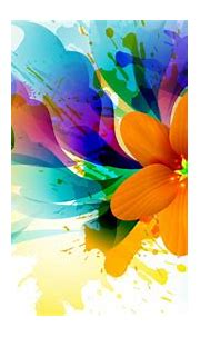 Abstract 3D Painting Wallpaper with Colorful Flower | HD ...