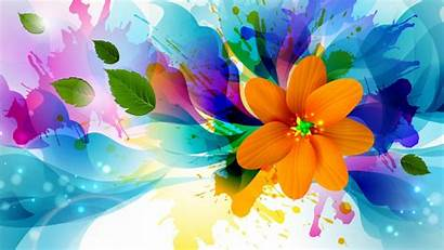 Abstract Painting Colorful Flower 3d Wallpapers Widescreen
