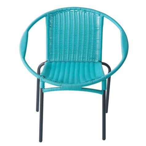 fauteuil de jardin rond turquoise rio maisons du monde