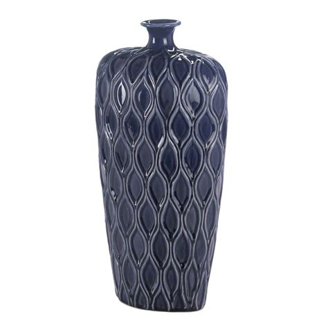 Navy Floor Vase by Large Ceramic Navy Blue Moroccan Geometric 17 Quot