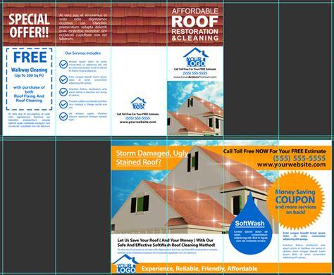 14 X 8 5 Four Panel Roll Fold Brochure Mockup On 14 X 8 5 Roll Fold Brochure Mockup 8 Pages Pt 2 Cover