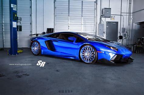 Awesome Chrome Blue Lamborghini Aventador