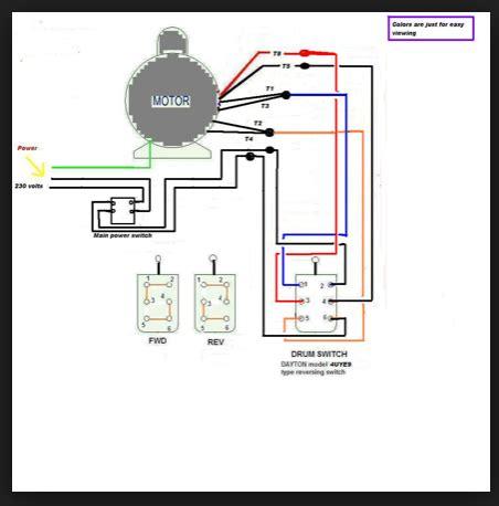 220 single phase motor wiring on 3 phase forward reverse