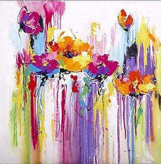 aquarel abstract bloemen geschilderd door bekwame schilder