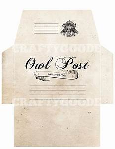 harry potter themed envelope diy printable by craftygoode With harry potter envelope template